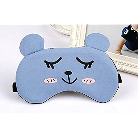 YSBER Cute Expresión Cartoon Dormir Eye Mask Suave Antifaz Compresa de hielo antifaz para Dormir & Travel, Cool / Warm Terapia, los ojos Hinchados y las Ojeras