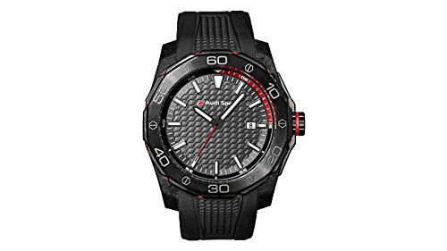 Original Audi Sport Uhr Dreizeigeruhr Armbanduhr Chronograph schwarz
