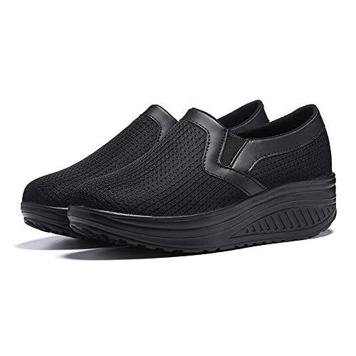 Xinantime Zapatillas Deporte Mujer Cuña Sin Cordones Plataforma Ante Piel Sneakers Planos Mocasines...