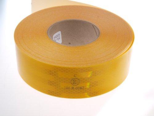WAMO Beleuchtungen und Reflektoren - Nastro adesivo riflettente 3M, 1 m, per strutture fisse, colore: giallo