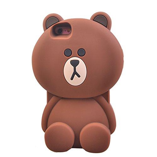"COOLKE 3D Fashion Klassische Karikatur Tier weiche Silikon Shell Schutzhülle Hülle case cover für Apple iPhone 6 6s (4.7"") - 003 004"
