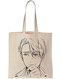 Viktor Nikiforov Pencil Portrait La bolsa de asas de la lona de algodón