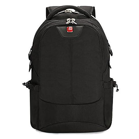 Soarpop WB4387MBK 17 inch Laptop Backpack Rucksack, Black Business Backpack