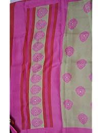 Patankarfab Cotton Silk Saree (Om Namo Venkatesha_Light Pink)