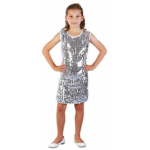 P'TIT CLOWN 81149 Déguisement Enfant Luxe Robe Disco - L - Multicolore