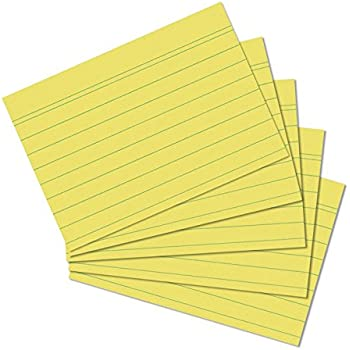 Learning Card Index Cards DIN A6/ 148x105/mm Checked 2/Packs of 100/in Assorted Colours Mehrzweckkarte white