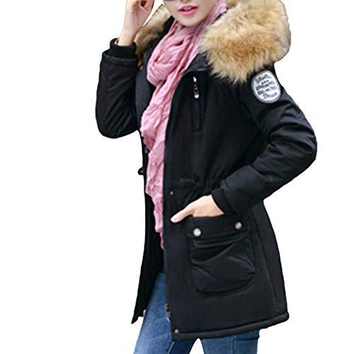 TianWlio Mäntel Frauen Weihnachten Damen Mantel Langarm Strickjacke Jacke Outwear Herbst Winter Oberbekleidung Kapuzen Kordelzug Lange Baumwolle Gefütterte Jacken Taschenmäntel