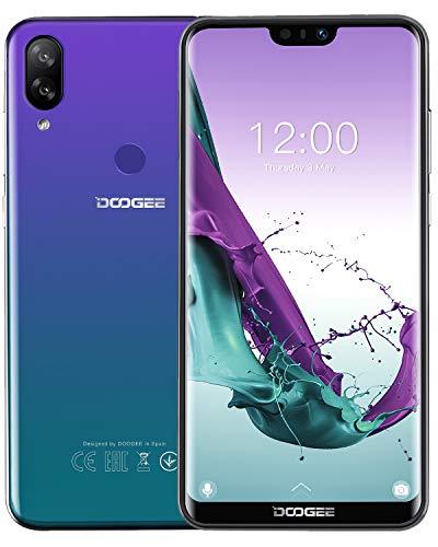 DOOGEE N10 4G Telefoni Cellulari in Offerta, Android 8.1 Smartphone Economici Dual SIM 5.84'' FHD+ 19: 9 Display Octa core 3 GB+32 GB, Telecamera 16 MP+16 MP+13 MP, 3360 mAh Fingerprint Face ID, Blu