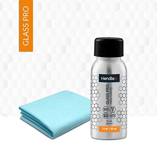 Hendlex Repelente de Agua y Polvo Para Cristales de Coches | Antilluvia en Parabrisas e Invisible | 50 mililitros