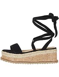 Sandales Femmes Pas Cher,LANSKIRT Femme Poissons Bouche Sandale Chaussures  De Plage Talon Plate Printemps Été Bohême… b8ba71e4fd5e