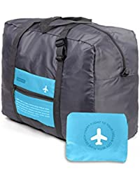 Dekinmax Travel Duffel Bag, Water Resistant Ultralight Collapsible Luggage Bag Tote Bag For Airplane Travelling...