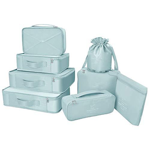 Organizer per valigie 8 pezzi ultimi viaggi organizzatori di viaggio di progettazione includono impermeabile sacchetto di stoccaggio scarpa sacchetti