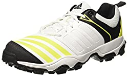Adidas Mens 22Yards Trainer 17 Ftwwht/Cblack/Shosli Cricket Shoes - 6 UK/India (39.33 EU)