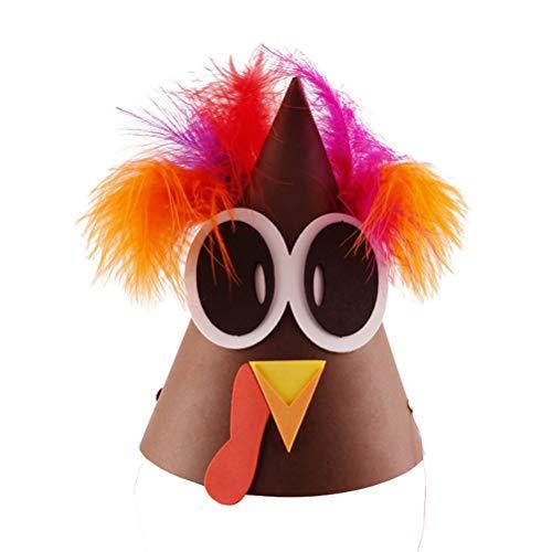 BESTOYARD DIY Truthahn Hut Kopfbedeckung Partyhütchen Partyhüte Papierhüte für Thanksgiving Dekoration Party Kostüm