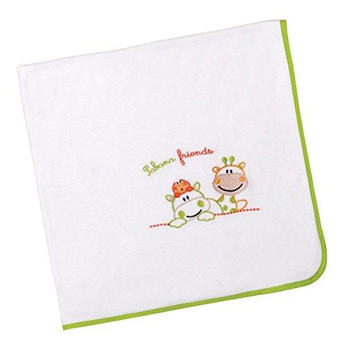 Arrullo para bebé punto de algodón (80x80 cm) GIRAFFE Pistacho