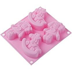 Silikomart 26.004.23.0065HSF 04Happy Dolly molde forma muñeca silicona rosa (16,3x 21,5x 1,5cm)
