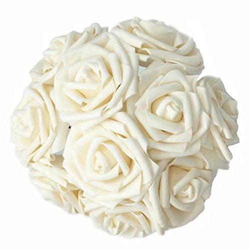 Celine Lin Künstliche Blumen 100echte Touch Künstliche Rosen für Blumensträuße Aufsteller Hochzeit Party Baby Dusche Dekorationen DIY champagnerfarben