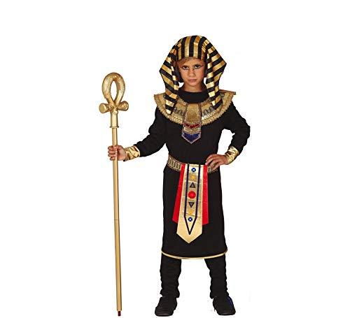 Ägypter Kostüm Schwarz - Fiestas Guirca Kinder Kostüm Ägypter Pharao Tutanchamun schwarz Gold Karneval EGIPCIO (5-6 Jahre)