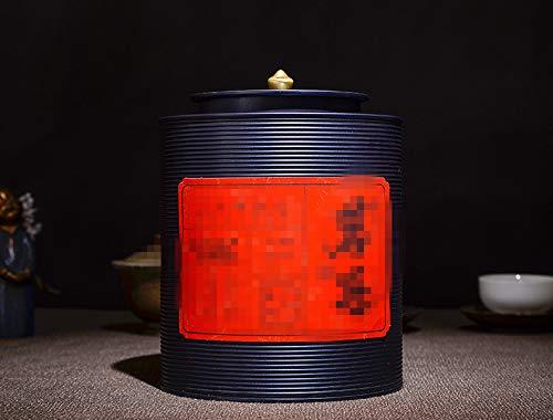 Einzigartiges Design Große Thread Tee Dose Verpackung Weißblech Geschenkbox (schwarz)