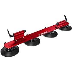 RockBros Portabicicletas Baca bicicleta con ventosa de almacenamiento para Auto (Rojo para 2 bicicletas)
