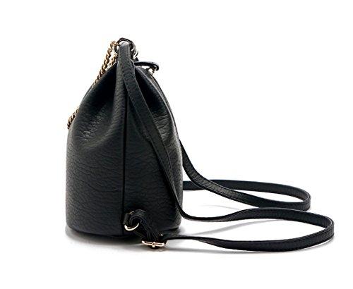 Mode Einfach Handtaschen Mode Kette Schultern Klein Rucksack Diagonal-Paket Wild Lässig Tasche Black