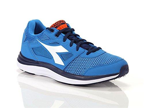 Diadora Scarpa Running Sneaker Jogging Uomo Heron Sky-blue/white Scarpe, Blu, 40