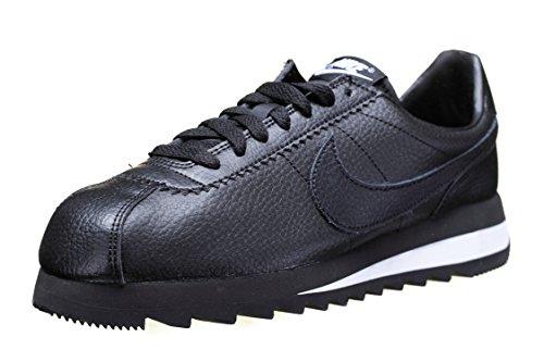 Nike Damen Wmns Classic Cortez Epic Prem Turnschuhe, Schwarz/Schwarz-Weiß, 38 EU (Weiß Cortez Nike Schwarz)