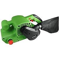 Casals VLB76E - Lijadora de banda (potencia 950 W, velocidad variable, 120-380 rpm, agarre engomado, adaptador para polvo) color verde y negro
