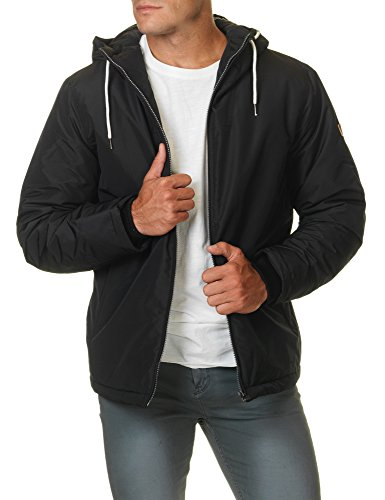 JACK & JONES Herren Winterjacke jorNEW CANYON Jacket Kapuze Regular Fit Schwarz (Black Fit:REG)
