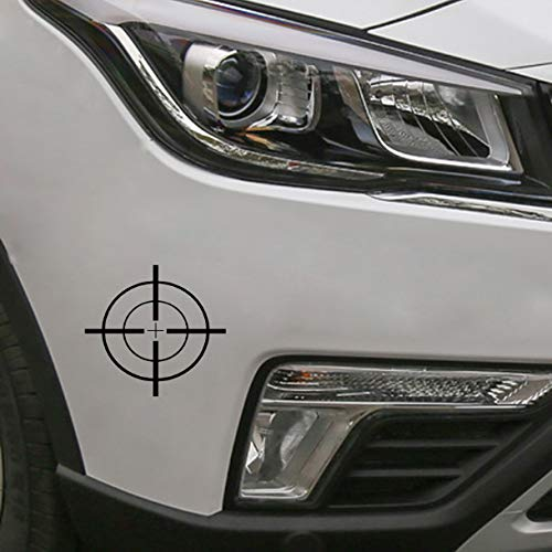 floolter Coolest Shooting Target Big Graphic Gun Car Sticker Vinyl Decoration Accessories 12.5 * 11.7Cm Black - Kunststoff Shooting Target