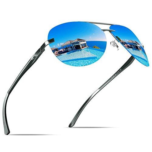 KITHDIA Premium Voll Verspiegelte Aviator Polarisiert Pilotenbrille Sonnenbrille
