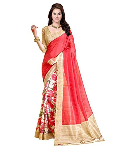 Sarees (Women\'s Clothing Saree Today best offers buy online in Low Price Sale Designer Multi Color Art Silk Fabric Free Size Women Saree With Blouse Piece)