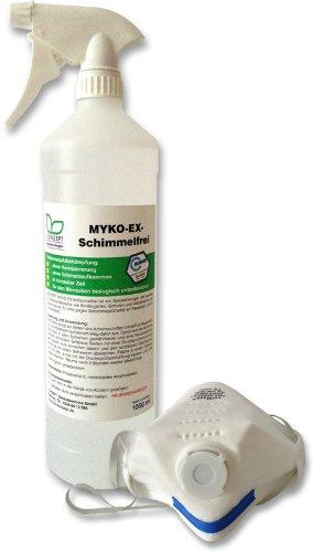 Bio Conzept Myko-Ex-Schimmelfrei 1L + Sporenschutzmaske (Speziell für Sensible Bereiche)