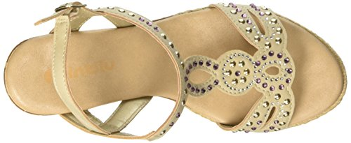 In Blu Evian, Chaussures compensé -  femme Avorio (Ghiaccio)
