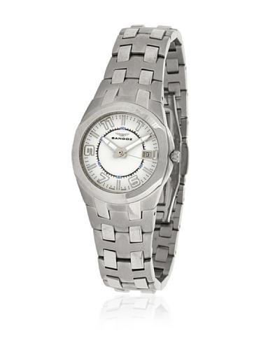 Sandoz-71568-00-Reloj-Col-Diver-Acero-Sumergible-brazalete-metlico-dial-Blanco