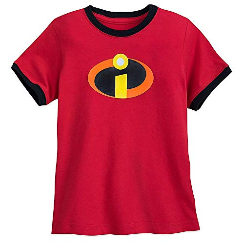 Pixar Incredibles Logo Ringer T-Shirt for Boys Size XS (4) - Logo Kids Ringer T-shirt
