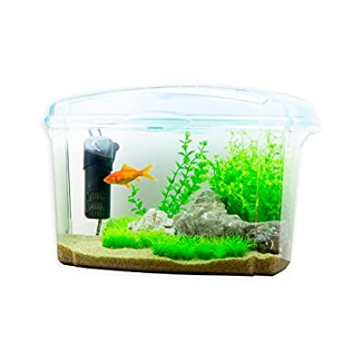 Interpet Plastic Fish Tank Aquarium for Goldfish, 18 Litres