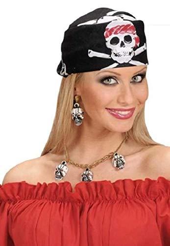 Kostüm Bandana Piraten - Unbekannt 2 x Bandana Kopftuch Fasching Karneval Fastnacht fürs Kostüm Seeräuber Totenkopf Pirat Piraten Tuch 55 x 55 cm