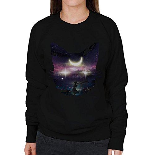 Cloud City 7 Sailor Moon Luna Face Collage Women's Sweatshirt