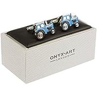 Cuff-Daddy-Gemelli da polso, motivo: trattore e animali da fattoria, colori disponibili: rosso/blu/verde/argento