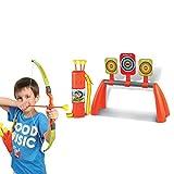 Tosbess Set Arciere con Frecce e Bersaglio - Regalo Perfetto per Bambini 5+ Anni