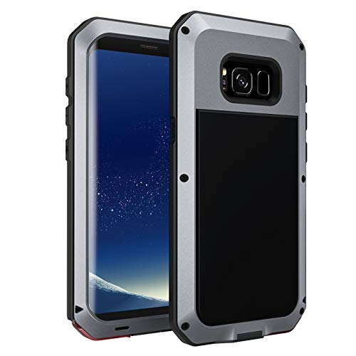 seacosmo Galaxy S8 Hülle, [Tough Armor] Aluminium Doppelte Schutz Stoßfest Schutzhülle für Samsung Galaxy S8, Silber