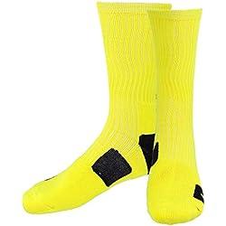Secado Rápido de Sudor Calcetines Toalla Tubo Al Aire Libre Calcetines De Baloncesto Atléticos para Hombres - Amarillo