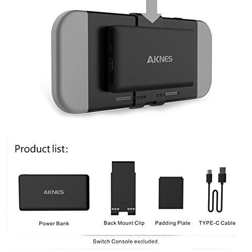 Mah Notebook-akku (zantec Ladegerät Tragbar Ausziehbar Notebook-10000mAh-Externer Akku für Nintendo Switch schwarz)