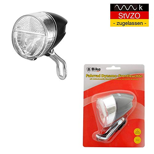 B-Germany LED Retro Fahrrad Dynamo Fahrradlampe Fahrradleuchte Frontlampe Fahrradlicht Fahrradbeleuchtung StVZO-Zulassung
