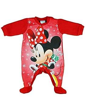 Mädchen Baby-Strampler Weihnachts-Strampler Baby Weihnachtsoutfit Langarm Fuß WARM Minnie Mouse GRÖSSE 56 62 68...
