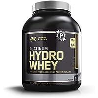 Optimum Nutrition ON Platinum Hydro Whey, Proteinas en polvo, para masa muscular y musculacion, fuente de BCAA, bajo en calorías, Chocolate, 40 porciones, 1.6 kg