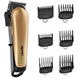 Professional Cordless Hair Clippers Set for Men Rechargeable Hair Cutting Kit with 6