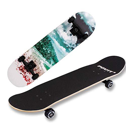 MJ-Games Skateboard Deck, Adults Kids Skateboard, Komplettboard mit ABEC-9 Bearing Kanadisches Ahorn Deck mit 150kg Tragkraft für Anfänger und Profis (Kanadische Ahorn-skateboard-deck)