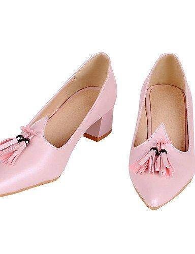 WSS 2016 Chaussures Femme-Bureau & Travail / Habillé / Décontracté-Noir / Rose / Blanc-Gros Talon-Talons / Bout Pointu / Escarpin Basique-Talons- black-us9 / eu40 / uk7 / cn41